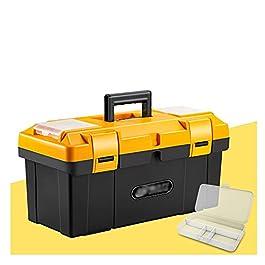Boîte À Outils Boîte à outils avec plateau amovible Small Pièces Organisateur en Couvercle Etui de stockage en plastique…