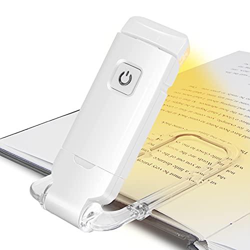 HONWELL Luce per Libri di Ricarica USB Luce da Lettura Lampada da Lettura da Letto, Interruttore a Sfioramento, 2-Livello Luminosità di Luce per Libri a LED Proteggi i Tuoi Occhi