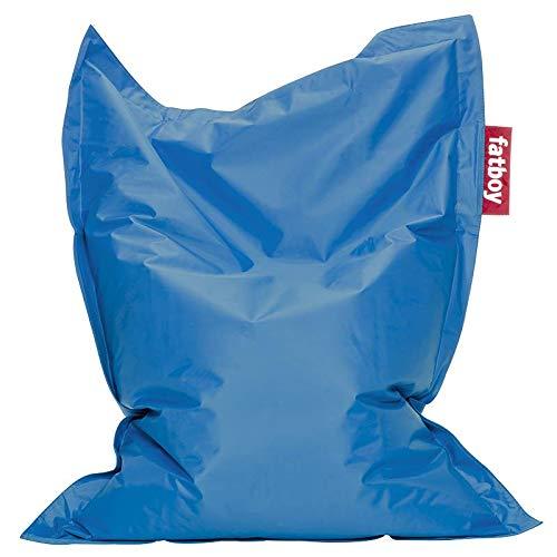 Fatboy® The Original Junior | Pouf pour chambre ado/enfants | Fatboy Bean bag/Coussin/Fauteuil d'intérieur | Bleu pétrole | 130 x 100 cm
