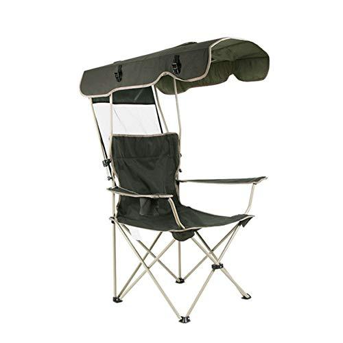 CQ Chaise Pliante ExtéRieure De Protection Contre Le Soleil Chaise Longue Multifonctionnelle Portable PêChe Plage avec Chapeau De Soleil