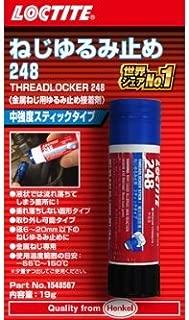 LOCTITE(ロックタイト) ねじゆるみ止め用接着剤 中強度タイプ 248 スティックタイプ(ブルー) 1548567