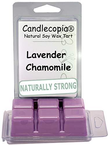 Candlecopia Lavender Chamomile Strongly Scented Hand Poured Vegan Wax Melts, 12 Scented Wax Cubes, 6.4 Ounces in 2 x 6-Packs