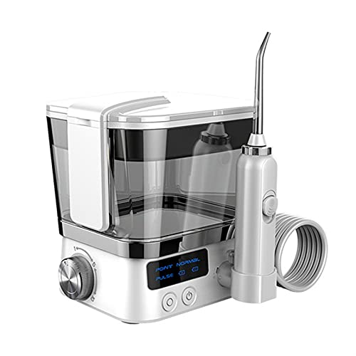 SVNA Irrigador Oral Dental portátil Higiene bucal Flosser de Agua 2 boquillas de Puntas de Chorro 10 Modos Limpiador de Agua con Tanque de Agua de 600 mm