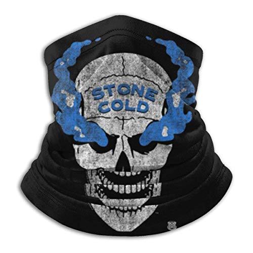 Braga de cuello WWE con piedra fría azul envejecida Sm-Oke Skul, funda para el cuello, polaina multifuncional pasamontañas bandana para exteriores