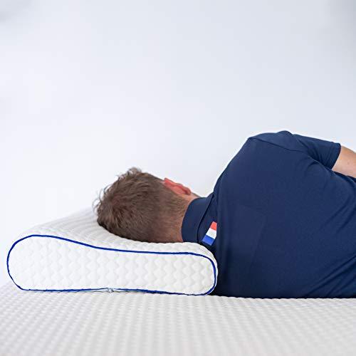Preisvergleich Produktbild RESTBULLE Resistbulle Kopfkissen,  ergonomisch,  Memory-Schaum Form der Halswirbelsäule Mittlere Aufnahme,  Hotellerie Qualität 40 x 60 x 9 / 12 cm