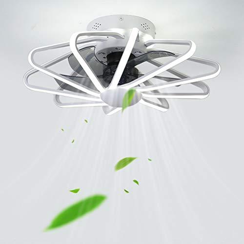 GUSICA Deckenventilator mit LED Beleuchtung und Fernbedienung Leise, 112W LED Esszimmer Deckenlampe mit Ventilator, Dreifarbtemperatur, 3-Gang Einstellbare Ventilator mit Lampe,Weiß