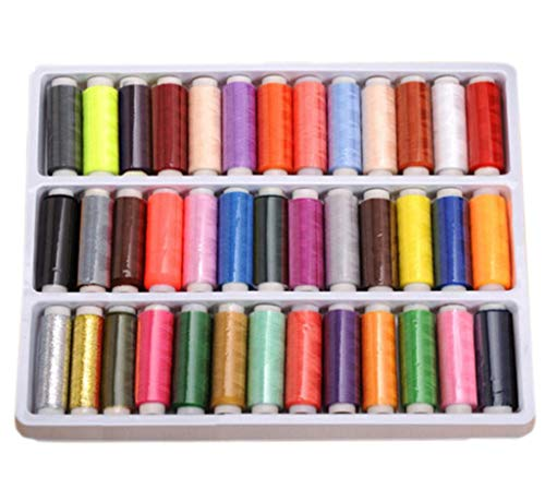 39 Spool Sewing Threads Assorted Spool Rainbow Polyester Sewing Thread Embroidery Machine Threads Quilting Thread for Hand Sewing/Machine Sewing