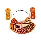 KiloNext アルミニウム 自在 コードスライダー テント ロープ張り (金 橙 計20個セット 収納用ワイヤーホルダー付)