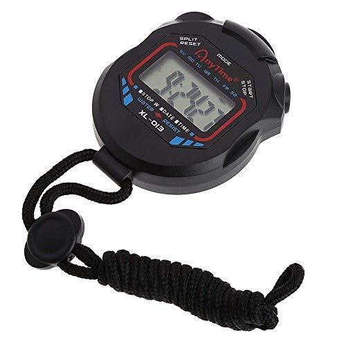 Techrace Digitale professionelle Handheld-LCD-Chronographen Sportuhren Stoppuhr mit Riemen