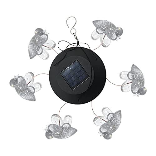 Luz de jardín en forma de abeja solar, LED, impermeable, jardín, exterior, arte, escultura, paisaje, luz, decoración de césped de jardín en casa, campanillas eólicas