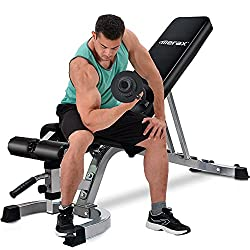 Merax Deluxe Foldable Utility Weight Bench Adjustable Sit Up