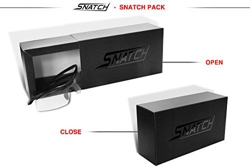 Radbrille Selbsttönend Polarisiert – Fahrradbrille Photochrome Sportbrille Sonnenbrille Ski Laufen Golf Running by Snatch Italy (Matt Schwarz / Shiny Schwarz, Photochromen) - 7