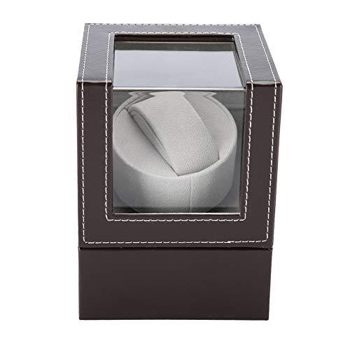Dioche uhrenbeweger Single Uhren, Flanell automatische mechanische Einzeluhr PU Geräuschfreier Mabuchi Motor Wickler Kommt mit staubdichter PU-Box12x13x16 cm