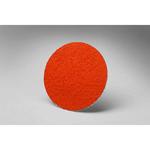 3M Roloc Disc 777F - 60 Grit Ceramic Aluminum Oxide Grinding Disc - For Disc Sanders - Roloc Quick Change - Water Resistant YF-Weight Backing - 2