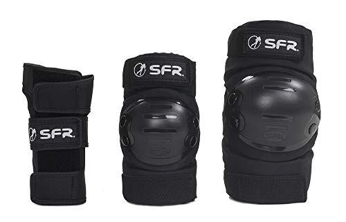 Sfr Skates SFR Youth Ramp Triple Pad Set Farbe Schwarz, Youth Unisex, AC600 L Schwarz (Black)