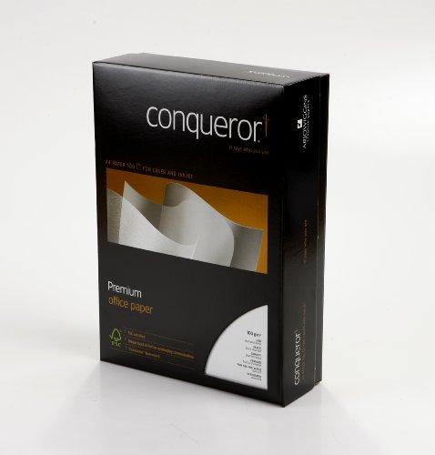 Conqueror Papier, DIN-A4-Format, 100 g/m², Weiß, 500 Blatt