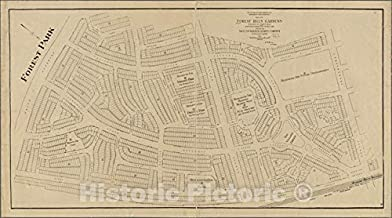 Historic 1911 Map - Map of Forest Hills Gardens, situated at Forest Hills, Borough of Queens, City of New York.of New York City and State - Queens - Vintage Wall Art - 64in x 36in