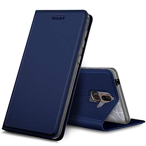 Verco Handyhülle kompatibel mit Nokia 8.1, Premium Handy Flip Cover für Nokia 8.1 Hülle [integr. Magnet] Hülle Tasche, Blau