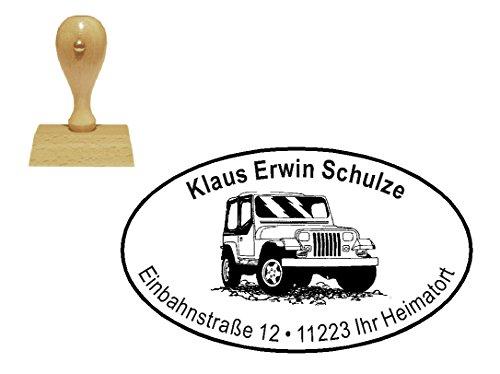 personalisierter Stempel Holzstempel « GELÄNDEWAGEN » Motivstempel - Auto KFZ