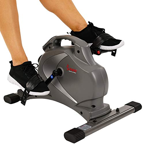 Sunny Health & Fitness SF-B0418 Magnetic Mini Exercise Bike, Gray (Renewed)