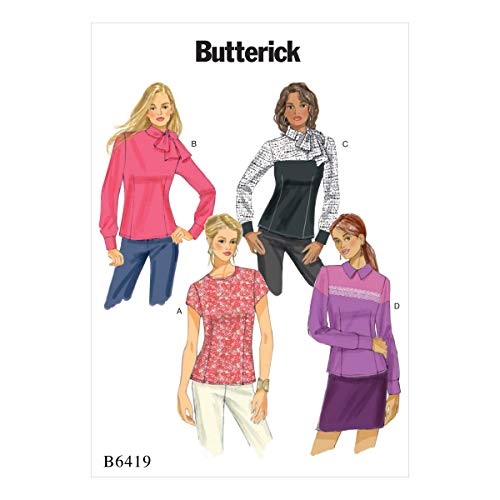 Vlinderpatronen 6419 A5, mist blouse, maten 6-14, spleet, veelkleurig, 17 x 0,5 x 22 cm