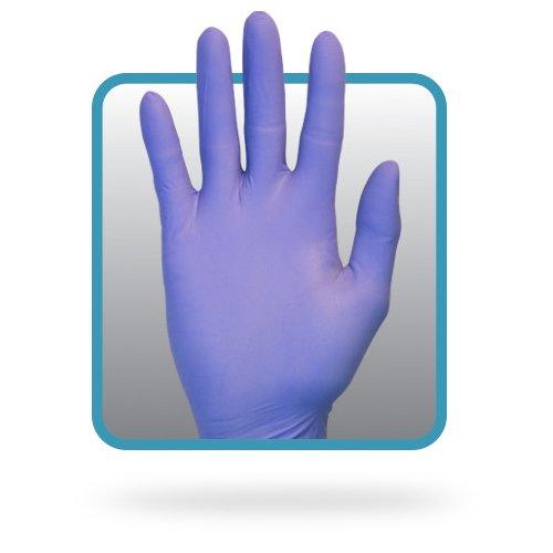 Guante sin polvo nitrilo 6 millas color azul paquete de 1000 Safety Zone GNPR-2X-1 2 x l