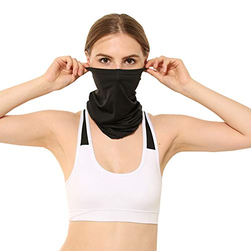Iusun Home Accessories Iusu Riding Mask Windproof Hat Cold Hot Weather Mask Motorcycle Sun Protection Headband Head Scarf Neck Warmer for Running Cycling Skiing Outdoor Sports Neutral (Black)