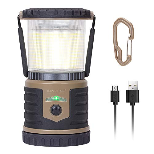 LAURA FAIRY LED Camping Lantern Rechargeable 12000mAh Waterproof Flashlight with 6 Adjustable Light Modes 1000LM 39 Hours USB Camping Lamp for Hurricane Emergency Outdoor Hiking Include a Hook