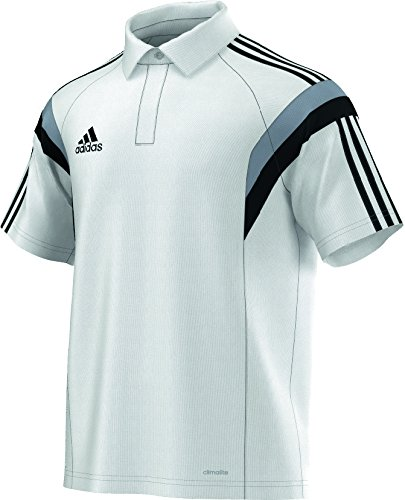 adidas Herren Poloshirt Condivo 14 Climalite, weiß/silber/schwarz, S, F76957