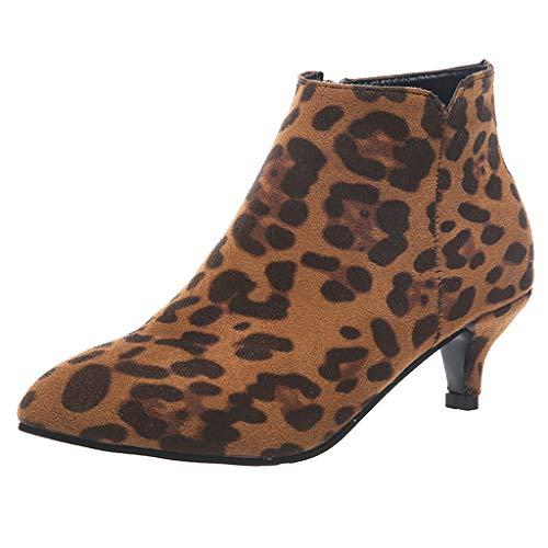 LILIGOD Damen Elegant Kurze Stiefel Freizeit Rom Stiefeletten Solid Größe Stiefeletten Thin Med Heels Zipper Kurze Stiefel Schuhe Sexy...