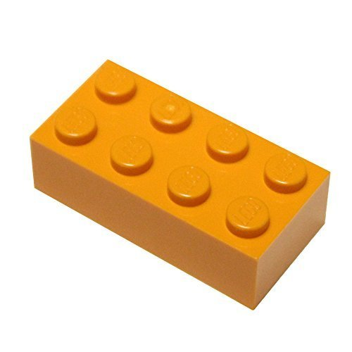 LEGO Piezas y Piezas: Naranja (Naranja Brillante) 2x4 Ladrillo x50