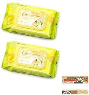チャームゾーン Geスキンケアシート フレッシュシトラス プレミアム 60枚入り×2個(計120枚) + 高級あぶらとり紙 セット