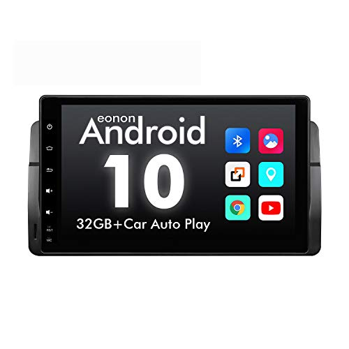 2020 Upgraded-Android Car Stereo Android 10 Car Stereo, Eonon Car Radio Applicable to BMW 3 Series Android Head Unit Support Carplay/Android Auto/WiFi/Fast Boot/Backup Camera-9 Inch-GA9450B
