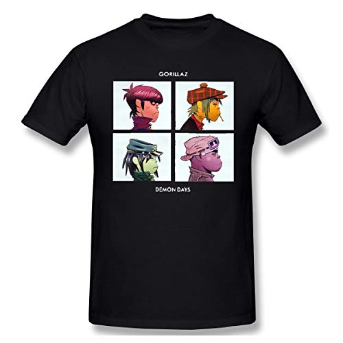 Sangning Men Round Neck Shirt Ultra Soft Short Sleeve T Shirts L Black