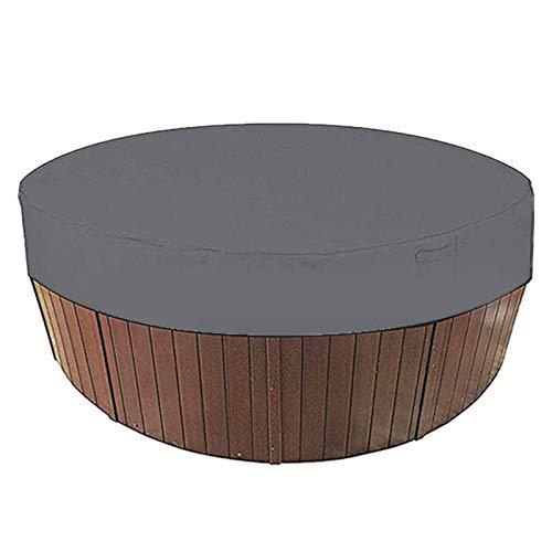 QPY Runde Whirlpool-Abdeckung Freien, SPA-Whirlpoolabdeckungen Staubabdeckung Swimmingpool Staubschutzabdeckung Wasserdicht und Staubdicht für Badewannen im Freien