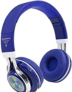 Bluetooth Headphones,Wireless Headset Bluetooth Headset FM Music/Daily Leisure/Sports Use Folding Bluetooth Card Headset Lighting Bluetooth Headset,E