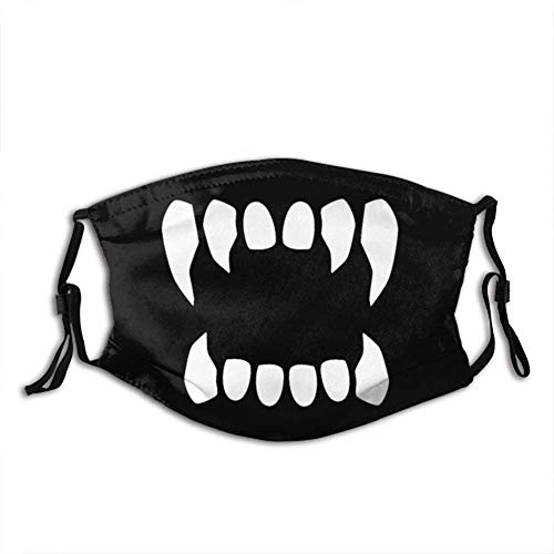 Vampire Fangs Personalisierter Mundschutz mit Filter Unisex Anti-Dust Washable Wiederverwendbarer Mundschutz (Vampire Fangs9)