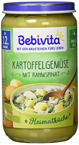 Bebivita Heimatküche ab 12. Monat Kartoffelgemüse mit Rahmspinat, 6er Pack (6 x 250 g)