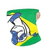 N / A Pañuelo para Cuello con Orejeras,Dibujos Animados De Jiu Jitsu Brasileño Adulto Cubierta De La Cara Hombre Mujer Pasamontañas Protección UV Bufanda Facial para Pesca,Caza,Cámping