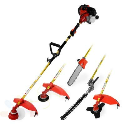 Best Prices! Lidetools Brush Cutter Grass Trimmer Pole Chain Saw,Hedge Trimmer Multi Machine 4 in 1