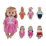 CZC GIFT Cadeau 6 UNITÉS Robes et Habits pour poupées de 12 Pouces, 13 Pouces et 14 Pouces (30cm-35cm) avec Couture à 360 °