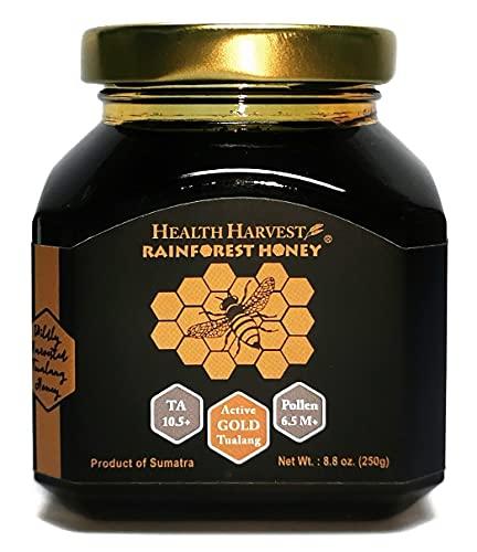 Tualang Goldhonig (bitterer Geschmack) 250g | Gesamtaktivität 10,5+ | Pollenzahl 6,5 M + | Pollen 200+ | Höchste Wahl für die adjuvante Therapie Mehrfach preisgekrönt