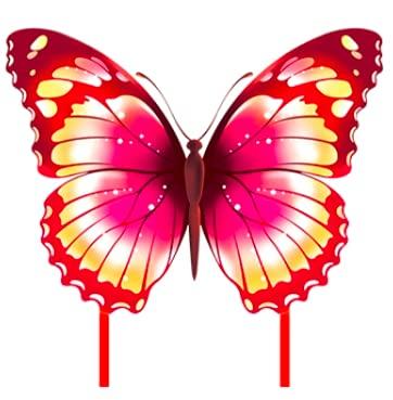 Pandiui23 Cometa Mariposa, Cometa Infantil, Cometa Mariposa para niños, Cometa para Adultos (Rosa)