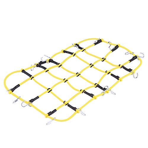 Dilwe RC Auto Gepäcknetz, Gelbes Nylon Netz mit Haken für kletternde Autos Traxxas TRX 4 D90 SCX10 90046 KM2