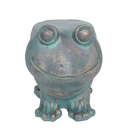 Christopher Knight Home 307407 Dawn Frog Garden Stool, Lightweight Concrete, Copper Patina Finish