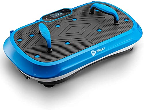 LifePro Waver Press Vibration Plate Exercise Machine | Vibrating Platform for Whole Body Fitness, Lymphatic Drainage, Weight Loss, Power Push Ups, Pressotherapy | Max User Weight 330 lb