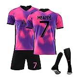 GJMYQ Trikot 3-teiliges Set Nr. 7 Mbappé 10# Neymar 11# Di Maria 20-21 Unisex-T-Shirt-Set der...