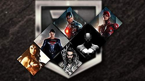 AASSS Justice League poster,5D diy pintura diamante taladro completo kit de punto de cruz diamante kits de pintura para adultos rhinestone bordado diamante arte(60x40cm Sin marco)