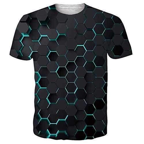 UNIFACO Unisex Herren 3D T-Shirt Lustige Druck Beiläufige Kurzarm T-Shirts Tee Tops S-XXL