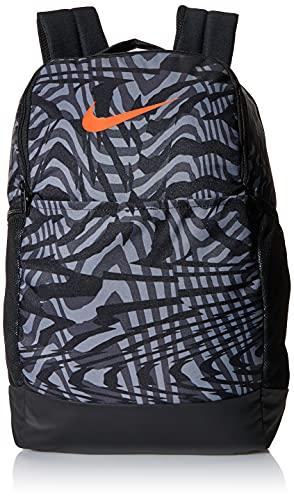 Nike Brasilia Backpack, black/smoke grey/team orange, one size (CW9043-010)
